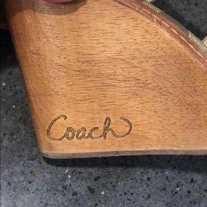 Coach Shoes - White/cream coach wedge sandals